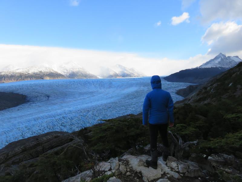 Blick auf den Grey Gletscher im Torres del Paine Nationalpark
