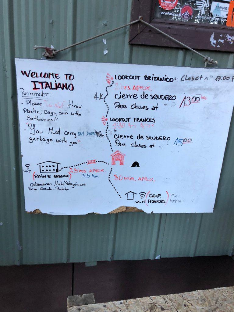 Hinweis zu den Optionen vom Campamento Italiano
